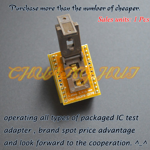 IC TEST SSOP8 to DIP8 Programmer adapter TSSOP8 test socket Pitch=0.65mm width=4.4/6.4mm