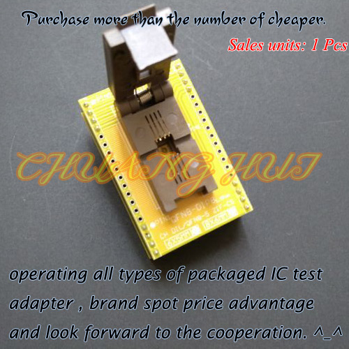 QFN8 WSON8 DFN8 MLF8 Programmer Adapter test socket Size=5x6 Pitch=1.27mm